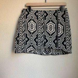 MinkPink Tribal Zipper Mini Skirt size M